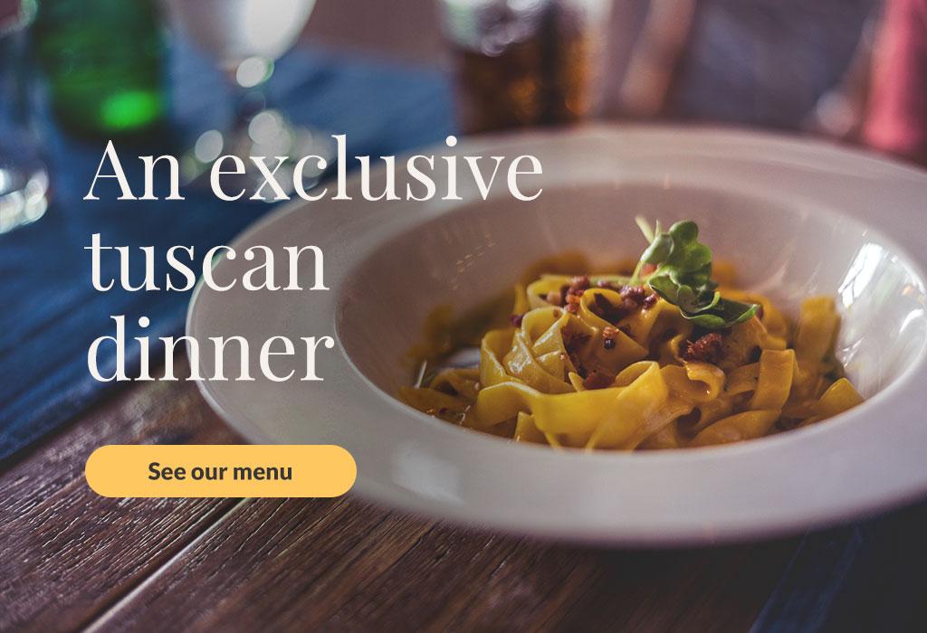 Book an exclusive tuscan dinner at Casa Pietraia