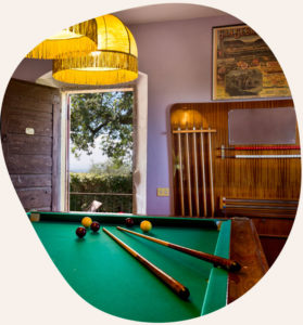 The billiard room